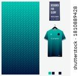 fabric textile design. green... | Shutterstock .eps vector #1810889428