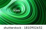 green striped surface. liquid... | Shutterstock .eps vector #1810902652