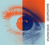 abstract geometric vector... | Shutterstock .eps vector #1810903498