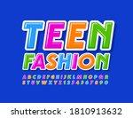 vector colorful baner teen... | Shutterstock .eps vector #1810913632