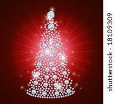 Diamond Christmas Tree / Holiday background / art-illustration - stock photo