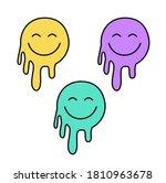happy face vector art... | Shutterstock .eps vector #1810963678