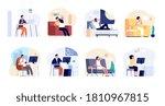 people dreaming. dreamy man... | Shutterstock .eps vector #1810967815