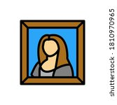 painting  museum icon. simple...