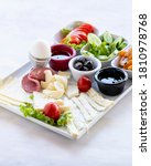 traditional breakfast plate  ... | Shutterstock . vector #1810978768