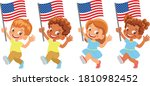united states flag in hand set | Shutterstock .eps vector #1810982452