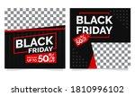 black friday instagram or... | Shutterstock .eps vector #1810996102
