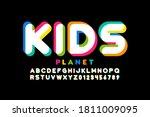 kids style font  playful... | Shutterstock .eps vector #1811009095