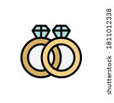 rings  marriage icon. simple...