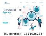 recruitment agency  landing... | Shutterstock .eps vector #1811026285