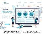female manager choosing best... | Shutterstock .eps vector #1811030218