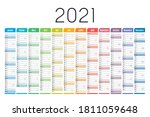 year 2021 one page colorful... | Shutterstock .eps vector #1811059648