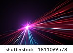 abstract color lights motion... | Shutterstock .eps vector #1811069578