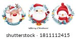 cute doodle santa claus and... | Shutterstock .eps vector #1811112415