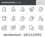 notification vector line icons... | Shutterstock .eps vector #1811121052