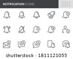 notification vector line icons...