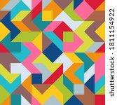 geometric universal abstract... | Shutterstock .eps vector #1811154922