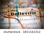 Belleville. Illinois. USA on a geography map