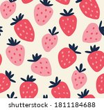 seamless pattern of red and... | Shutterstock .eps vector #1811184688