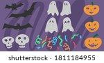 set of doodle elements for...   Shutterstock .eps vector #1811184955