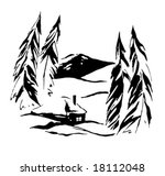 vector drawing bungalow in... | Shutterstock .eps vector #18112048