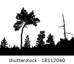 vector silhouette of the... | Shutterstock .eps vector #18112060