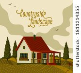 countryside landscape. rural... | Shutterstock .eps vector #1811214355