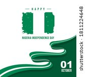 happy nigeria independence day... | Shutterstock .eps vector #1811224648