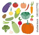 collection of vegetables on a...   Shutterstock .eps vector #1811227792