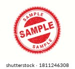 sample stamp in rubber style ... | Shutterstock .eps vector #1811246308