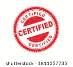 certified stamp in rubber style ... | Shutterstock .eps vector #1811257735