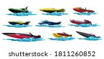 speed motorboats. sea or river... | Shutterstock .eps vector #1811260852