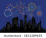 fireworks displaying in dark... | Shutterstock .eps vector #1811289655