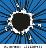 comic book hole. vector paper... | Shutterstock .eps vector #1811289658
