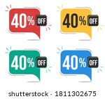 40  off. red  yellow  green and ... | Shutterstock .eps vector #1811302675
