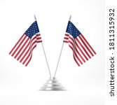 table flag usa. two national...   Shutterstock .eps vector #1811315932