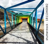 Vivid  Colorful Steel Bridge In ...