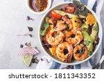 Salad Of Shrimp  Mixed Greens ...