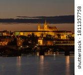 Panorama Of Sunset Over Prague ...