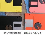 Close Up Of Old Diskette On...