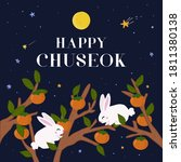 happy chuseok  korean... | Shutterstock .eps vector #1811380138