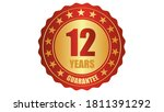 12 years guarantee stamp icon... | Shutterstock .eps vector #1811391292