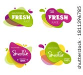 set of fresh and smoothie... | Shutterstock .eps vector #1811396785
