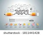 creative pencil design on... | Shutterstock .eps vector #1811441428