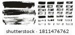 flat paint brush thin long... | Shutterstock .eps vector #1811476762
