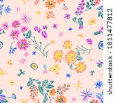 simple botanical seamless... | Shutterstock .eps vector #1811477812