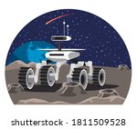 space rover explores surface of ... | Shutterstock .eps vector #1811509528