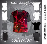t shirts template | Shutterstock .eps vector #181151306