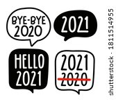 set of speech bubbles. new year ... | Shutterstock .eps vector #1811514955