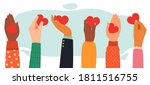 hands charity concept. give ... | Shutterstock .eps vector #1811516755